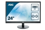 AOC 59,9cm (23,6)e2470Swda 16:09 DVI LED black      Spk.5ms